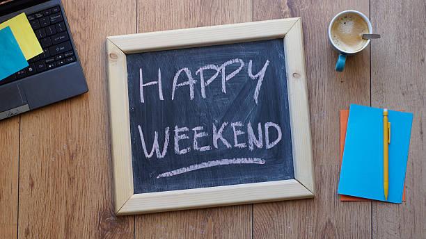ハッピーな週末 - 週末の予定 ストックフォトと画像
