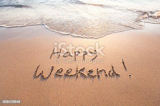 happy weekend, greeting card