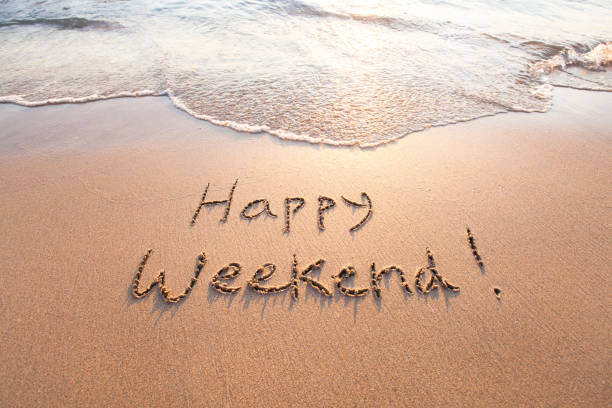 happy weekend - 週末の予定 ストックフォトと画像