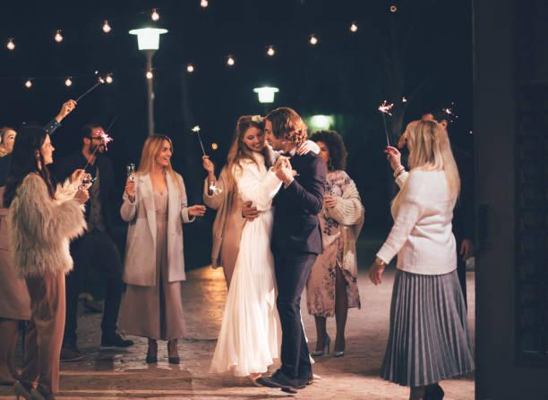 Happy wife and groom dancing at night outdoors wedding reception picture id929779474?b=1&k=6&m=929779474&s=612x612&w=0&h=quntjoanlfhvqeeeofyvzmhrus4zmijt8mwbjb1qe1w=