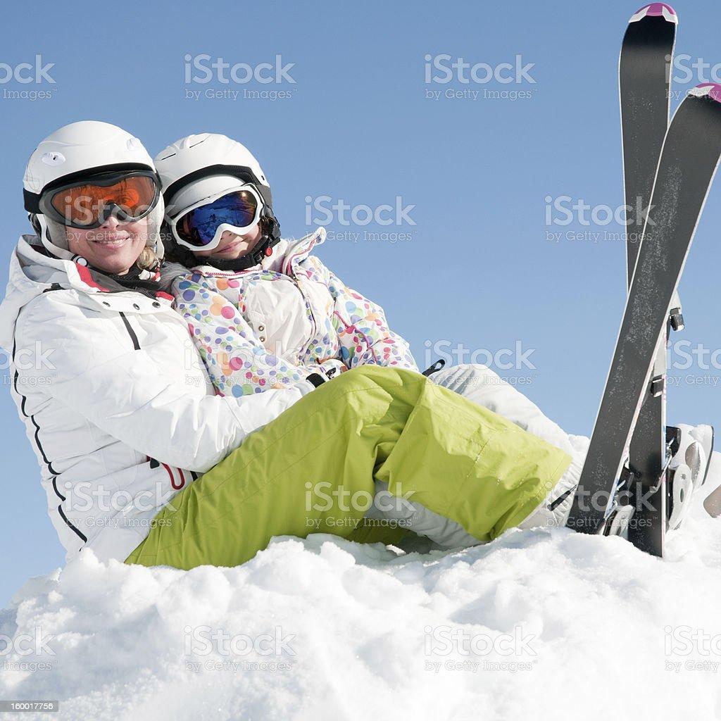 Happy winter vacation stock photo