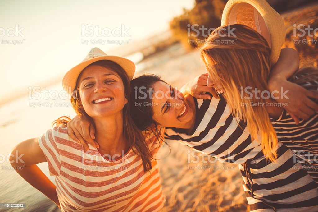Happy with my girlfriends stock photo