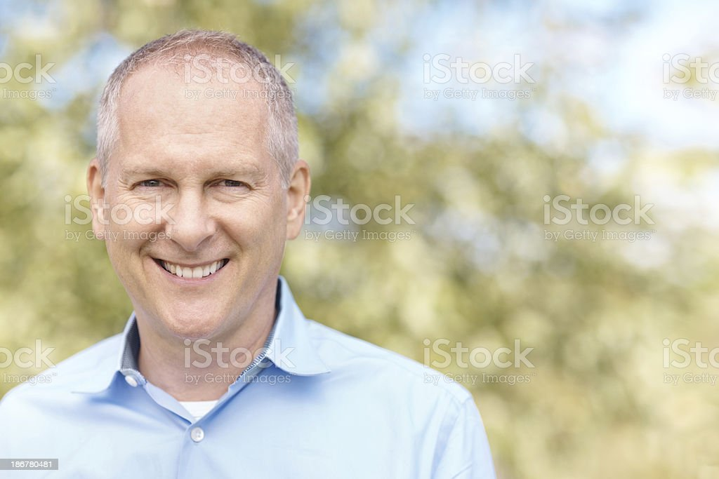 Happy with the life he's lived royalty-free stock photo