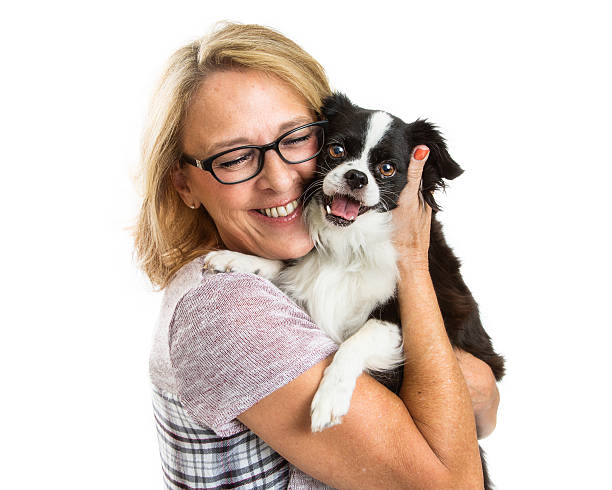 Happy woman and dog together over white picture id618218096?b=1&k=6&m=618218096&s=612x612&w=0&h=eoyr939y u1rbv030rjfj91zxgcdodd2zhkomab1ay0=