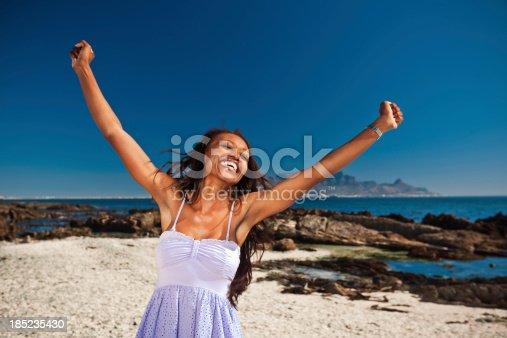 508455188 istock photo Happy woman at vacation 185235430