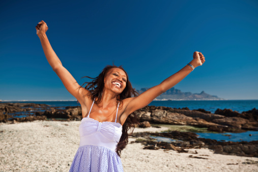 Happy Woman At Vacation Stock Photo - Download Image Now