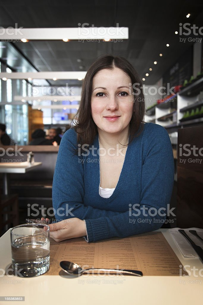 Happy woman daily life royalty-free stock photo