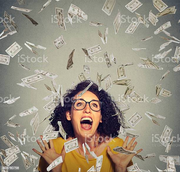 Happy woman ecstatic celebrates success under money rain picture id503780758?b=1&k=6&m=503780758&s=612x612&h=aj8sj0elgkngwomjv11ln4ms18r2jdz toriss7msho=