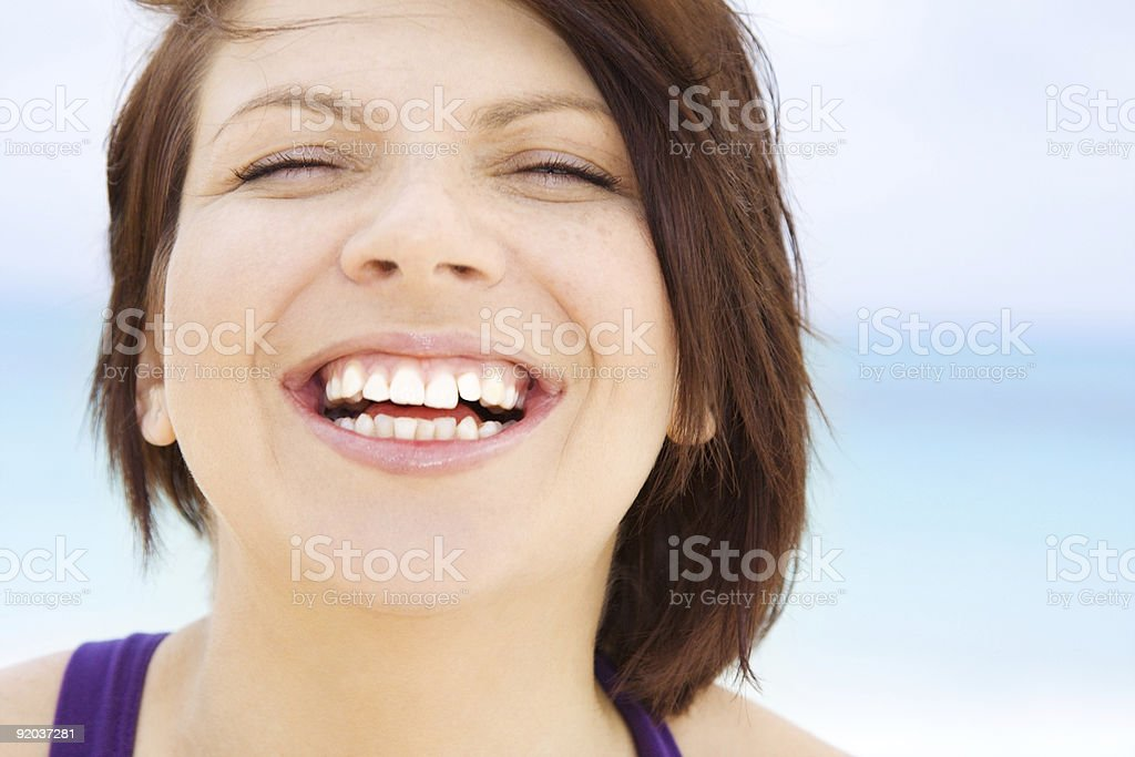 happy woman face royalty-free stock photo