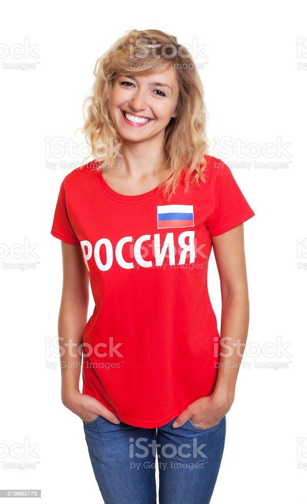 Feliz mulher da Rússia - foto de acervo