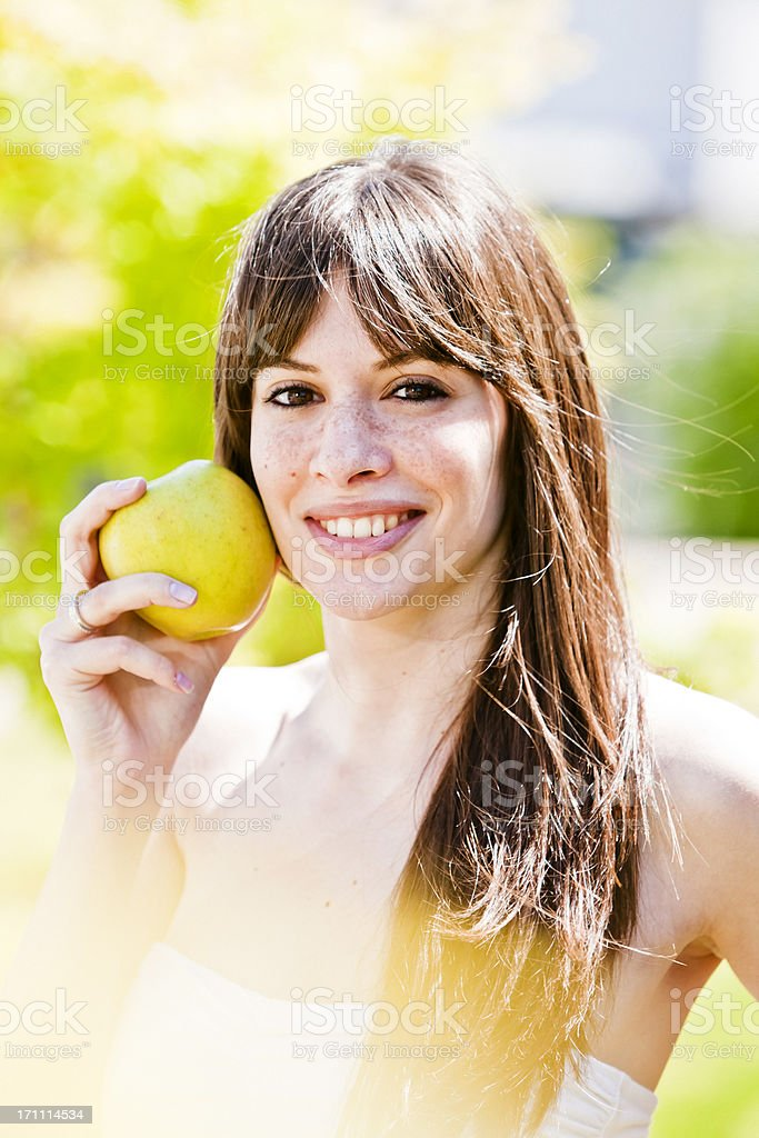 Happy woman in a Park. Healthy lifestyle. royalty-free stock photo
