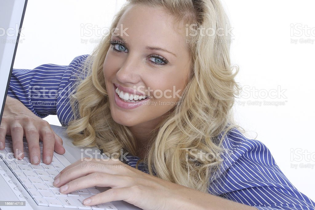 happy woman  online royalty-free stock photo