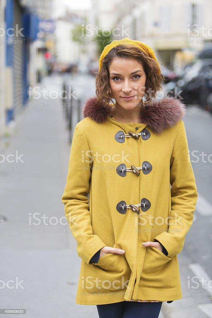 Happy Woman Paris royalty-free stock photo