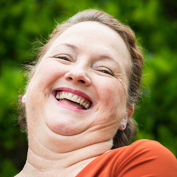 Best Double Chin Woman Stock Photos, Pictures & Royalty