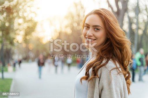 istock Happy woman 682158522