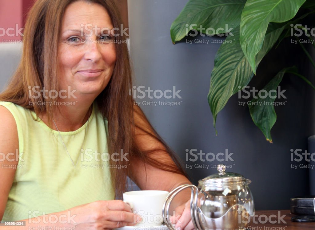 A happy woman stock photo