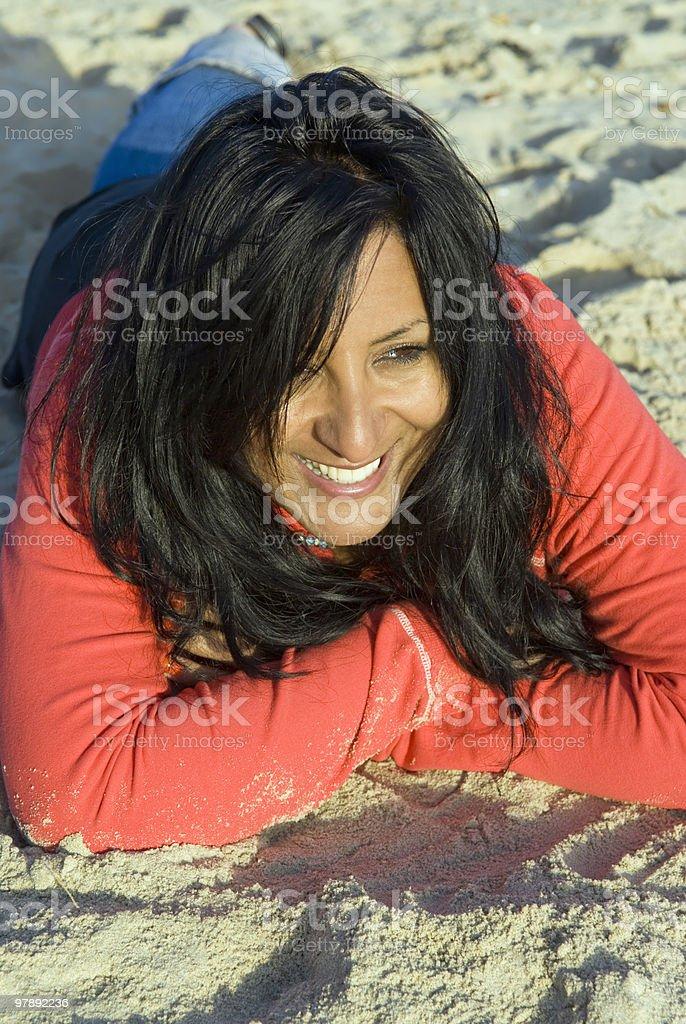 Happy woman. royalty-free stock photo