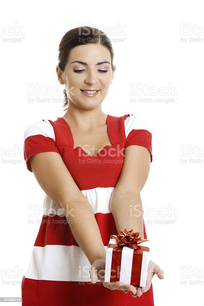 Happy woman royalty free stockfoto