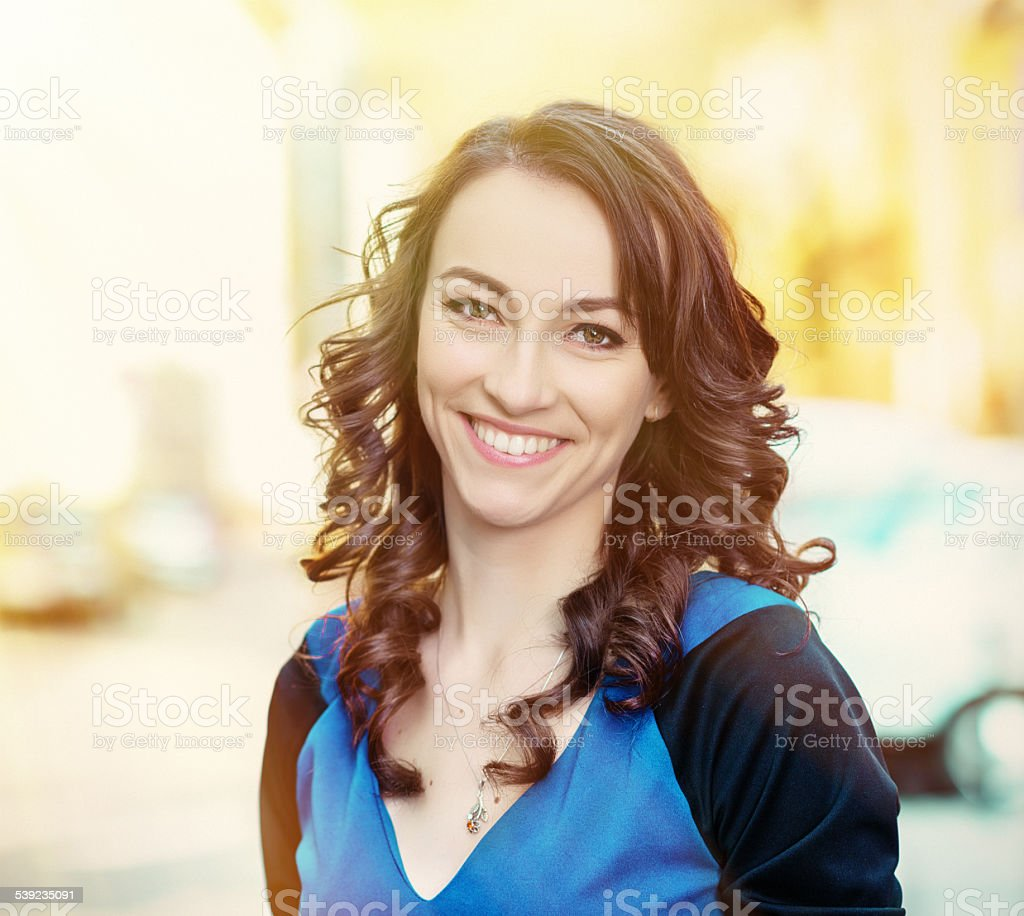 happy woman portrait royalty-free stock photo