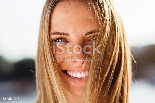 882495390 istock photo Happy woman posing 884301218