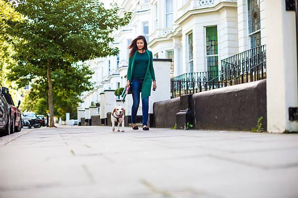 Happy woman walking with dog in early sunday morning picture id490633016?b=1&k=6&m=490633016&s=612x612&w=0&h=ece1jbjncsir9wvhqebvirlhesoibyd49ysqfzdwzou=