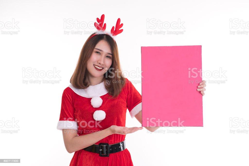 Feliz Mujer Que Llevaba Vestido De Santa Claus Sobre Fondo Blanco Foto De Stock Y Más Banco De Imágenes De Alegre