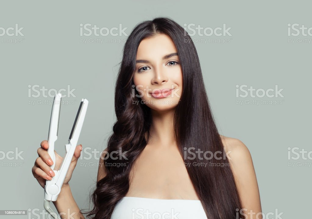 Mittellange haare locken mit glatteisen