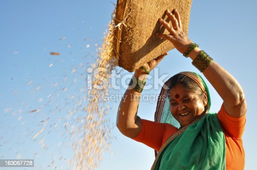 istock Happy woman working 163067728