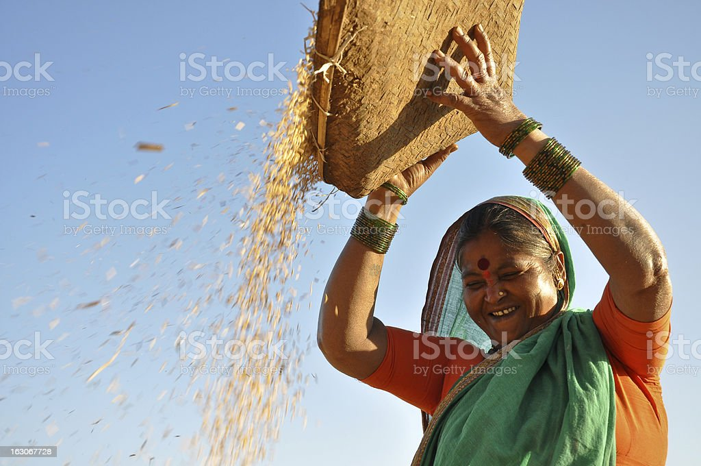 Happy woman working stock photo