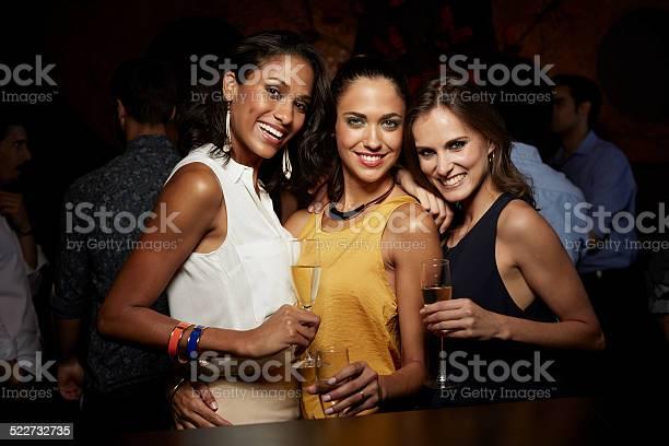 Happy women holding champagne flutes in nightclub picture id522732735?b=1&k=6&m=522732735&s=612x612&h=26yipu6qigakuhii8jjv4l5dm8xhd2om4ozhd ppxr8=