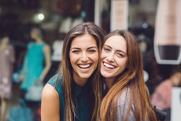happy women - sister stock photos and pictures