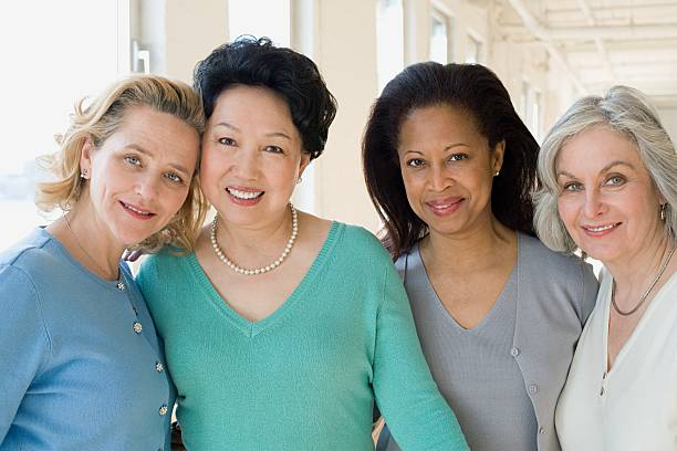 happy women - four people stock photos and pictures