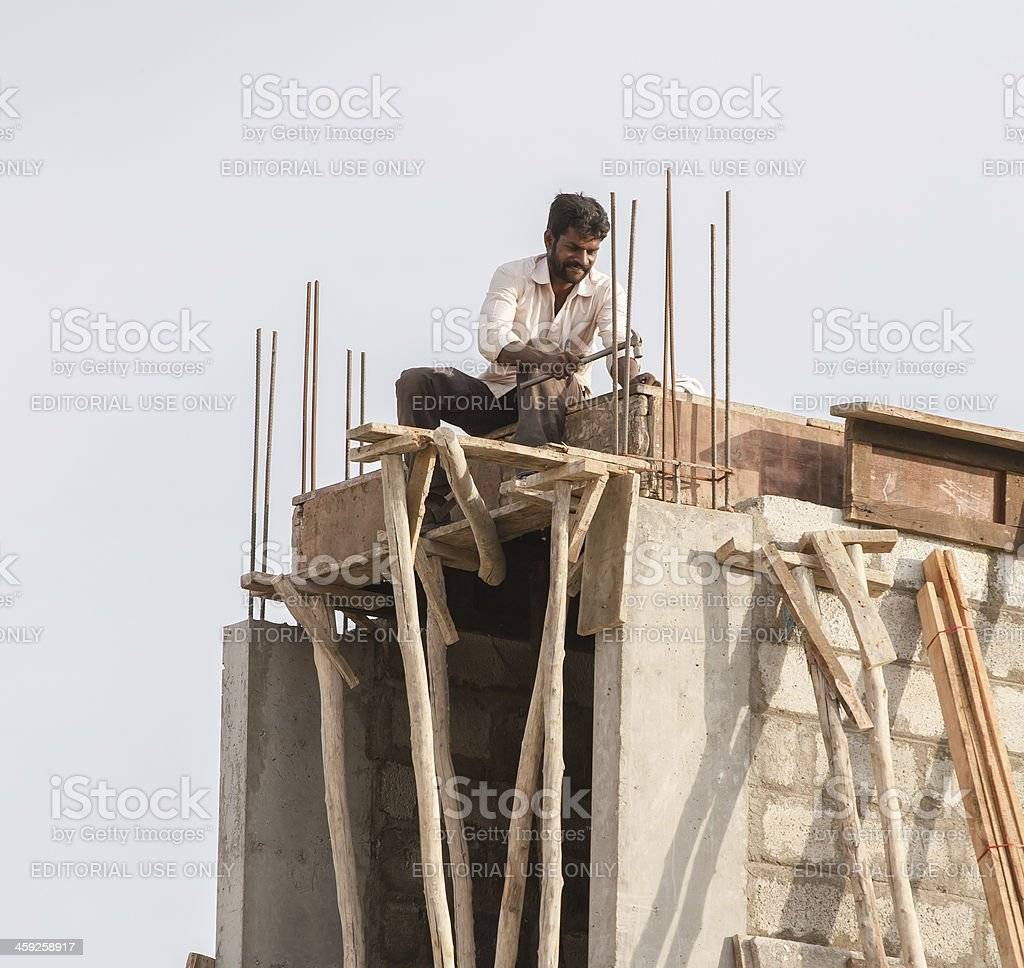 Happy worker in Bangalore royalty-free stock photo