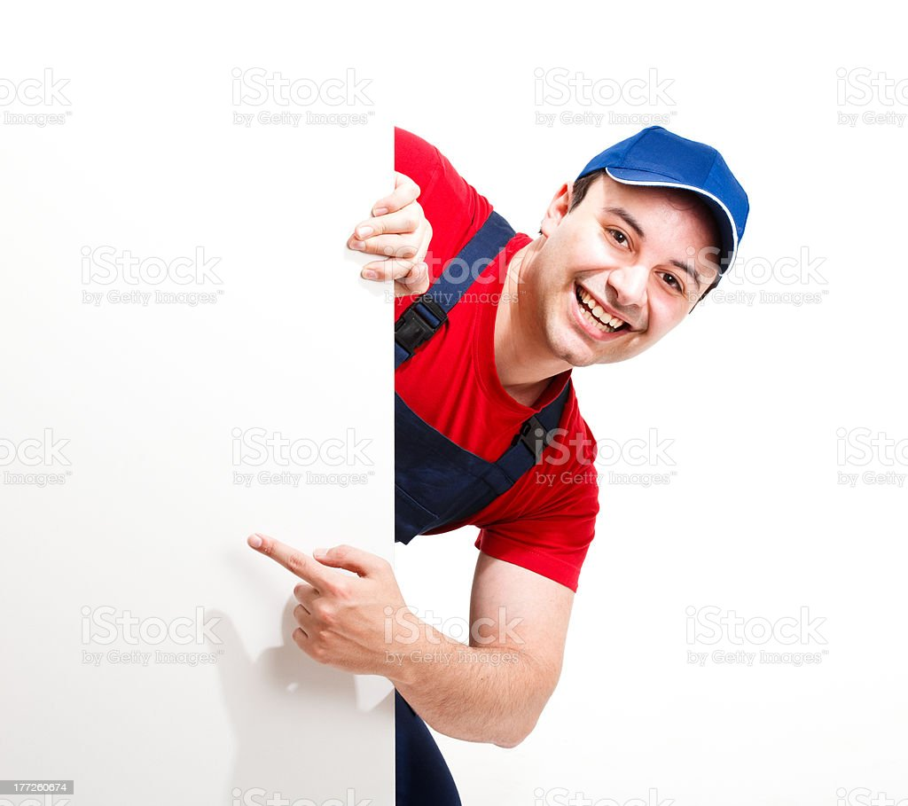 Happy worker royalty-free stock photo