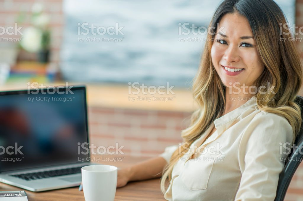 Happy Worker stock photo
