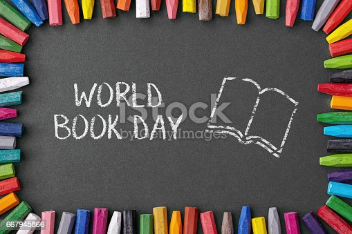 istock happy world book day with crayons 667945866