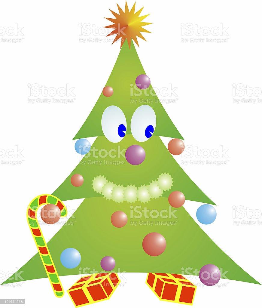 Happy Xmas tree stock photo