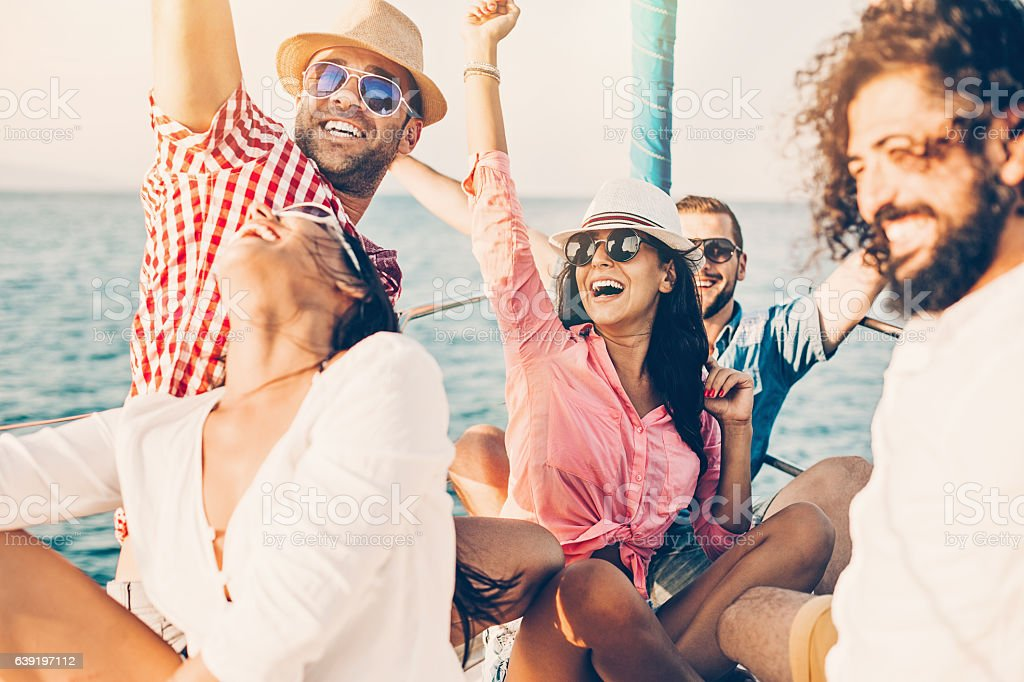 Happy yacht trip - foto de stock