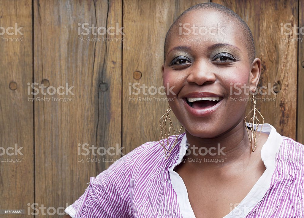 Happy Young African Lady stock photo