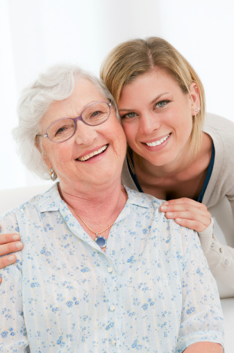 144362548 istock photo Happy young and old women 140008343