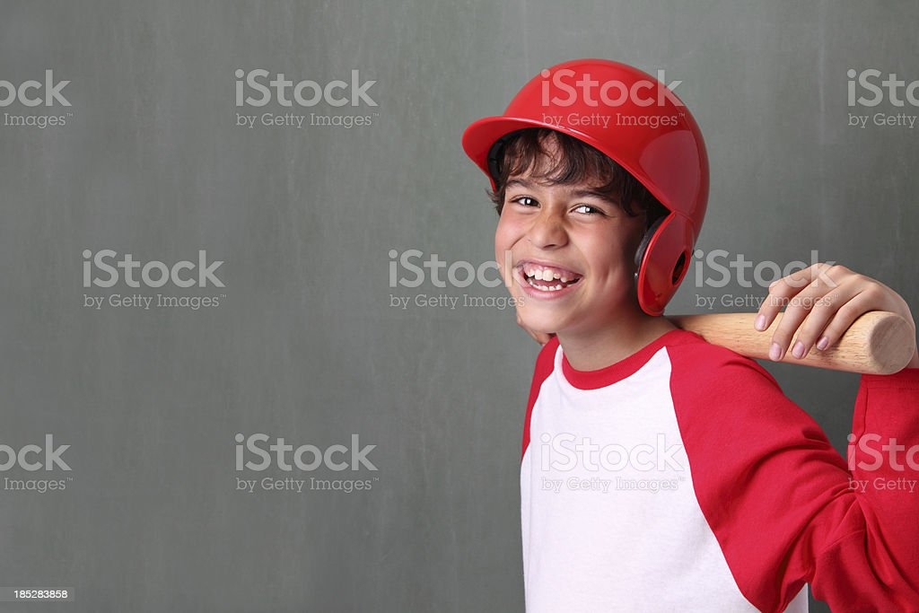 Happy Young Baseball Player stock photo