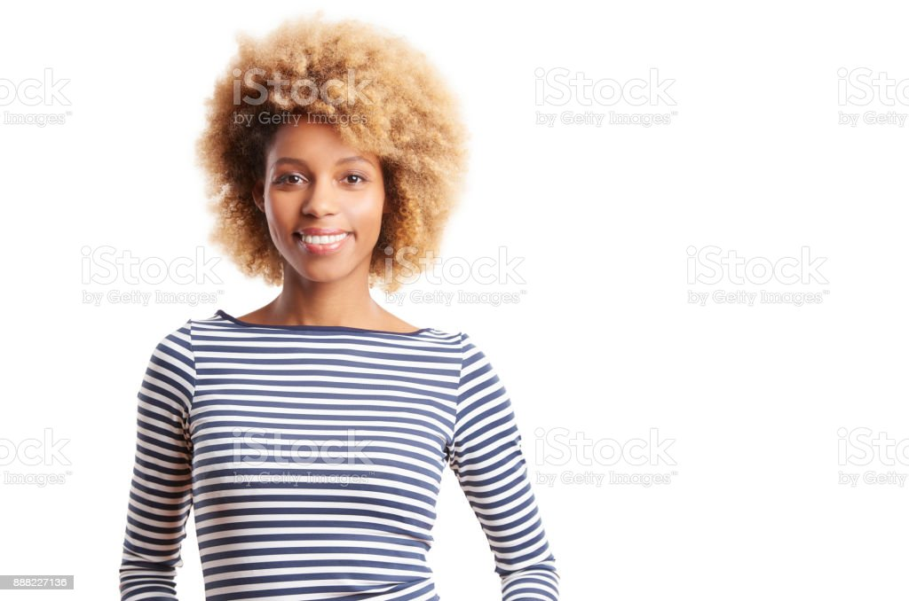 Happy young beauty with a perfect smile stock photo