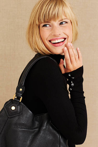 happy young blond businesswoman - medium length hair stock photos and pictures