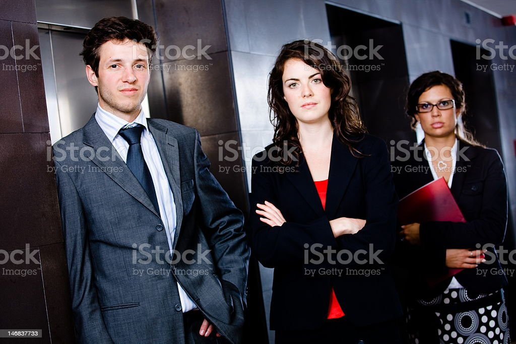Happy young business people royalty-free stock photo