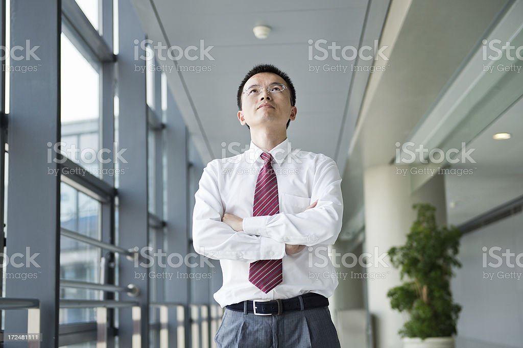 happy young businessman royalty-free stock photo