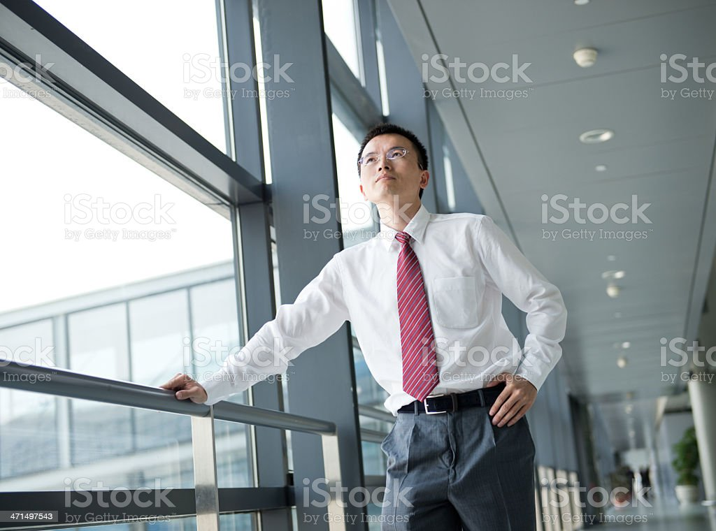 happy young businessman stock photo