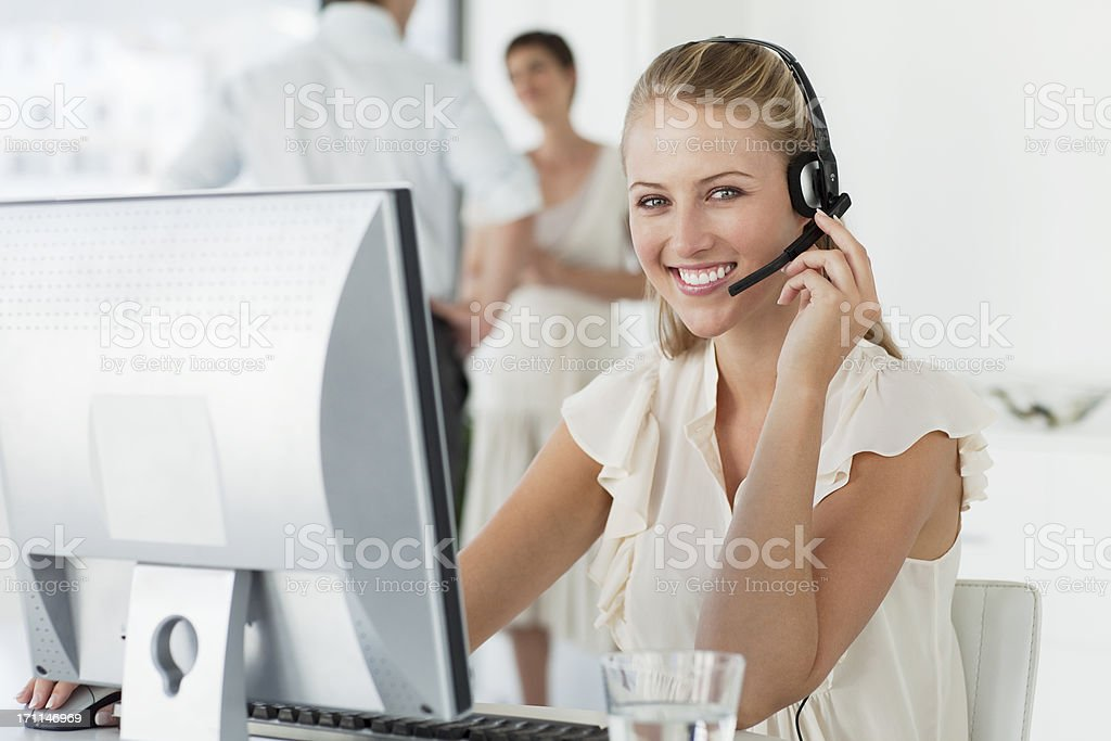 Happy Young Businesswoman. royalty-free stock photo