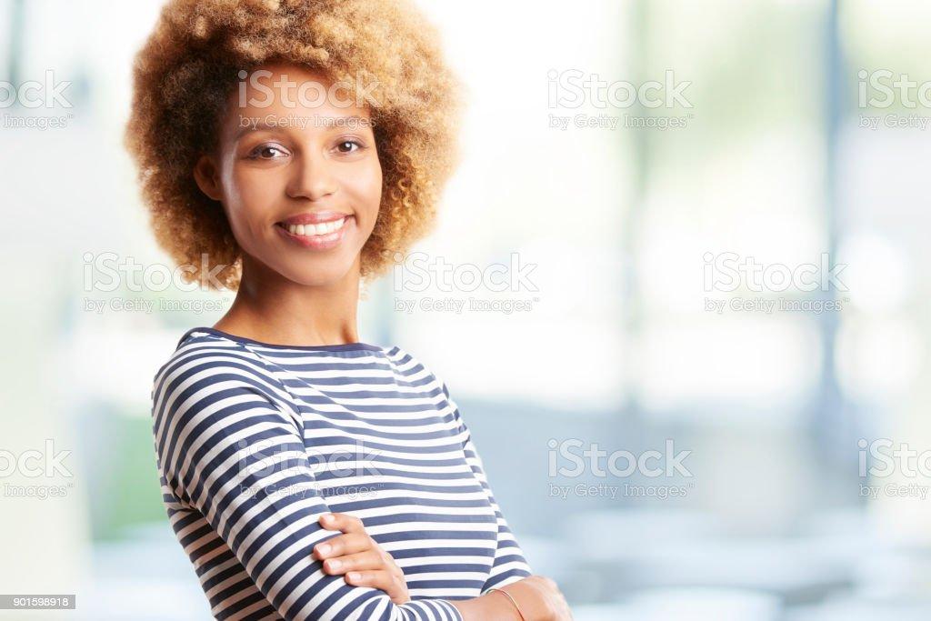 Happy young businesswoman portrait стоковое фото