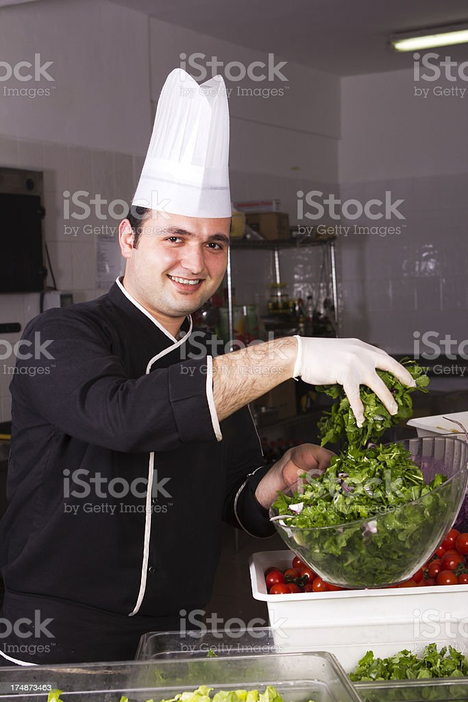 Happy Young Chef royalty-free stock photo