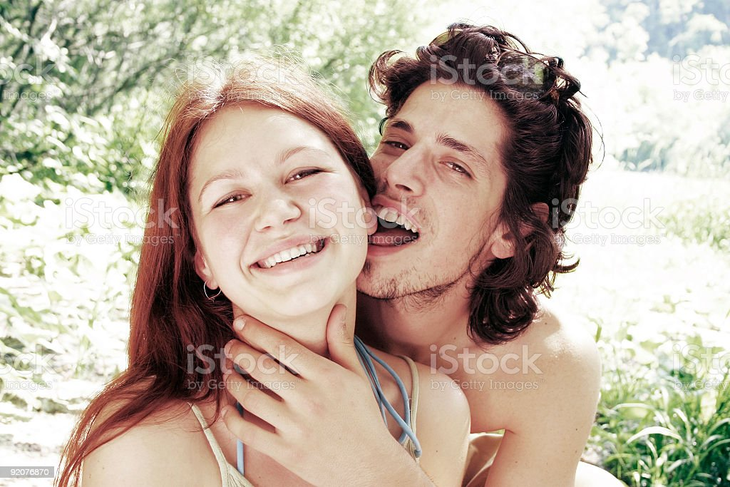 Happy young couple 2 stock photo